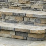Hot Spring Gray Stone Scape Steps