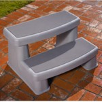 Coastal Gray Polymer Steps